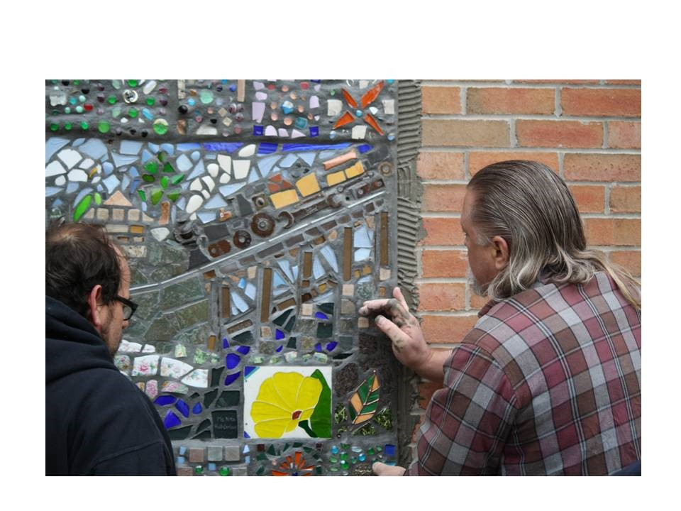 Brewster Mosaic Project Installation